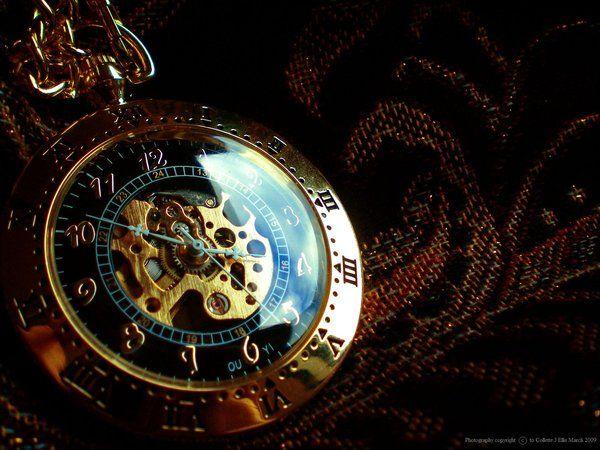 Beautiful skeleton pocket watch