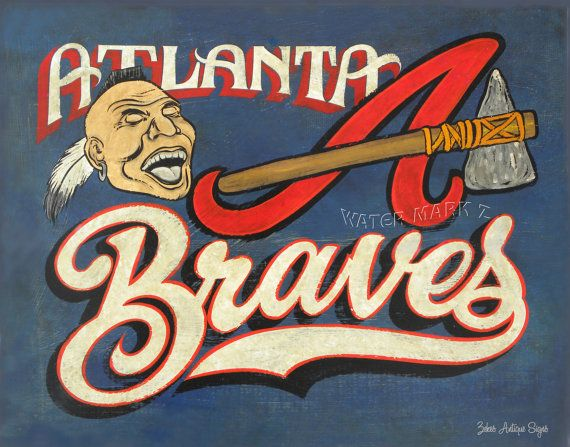 Atlanta Braves  Poster 16 by 20 art wall by ZekesAntiqueSigns, $22.00