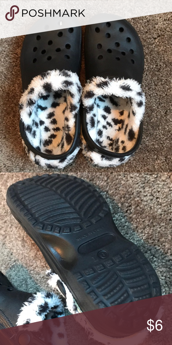 229770f45 Fake crocs Cute black and clogs with black and white fizzy inserts.  Excellent condition! NWOT s. No wear on bottoms! Shoes
