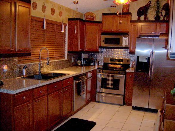 Lovely Safari Kitchen Designs | Safari Kitchen , Very Small Working Kitchen 9 X 10  Tin Backsplash Part 28