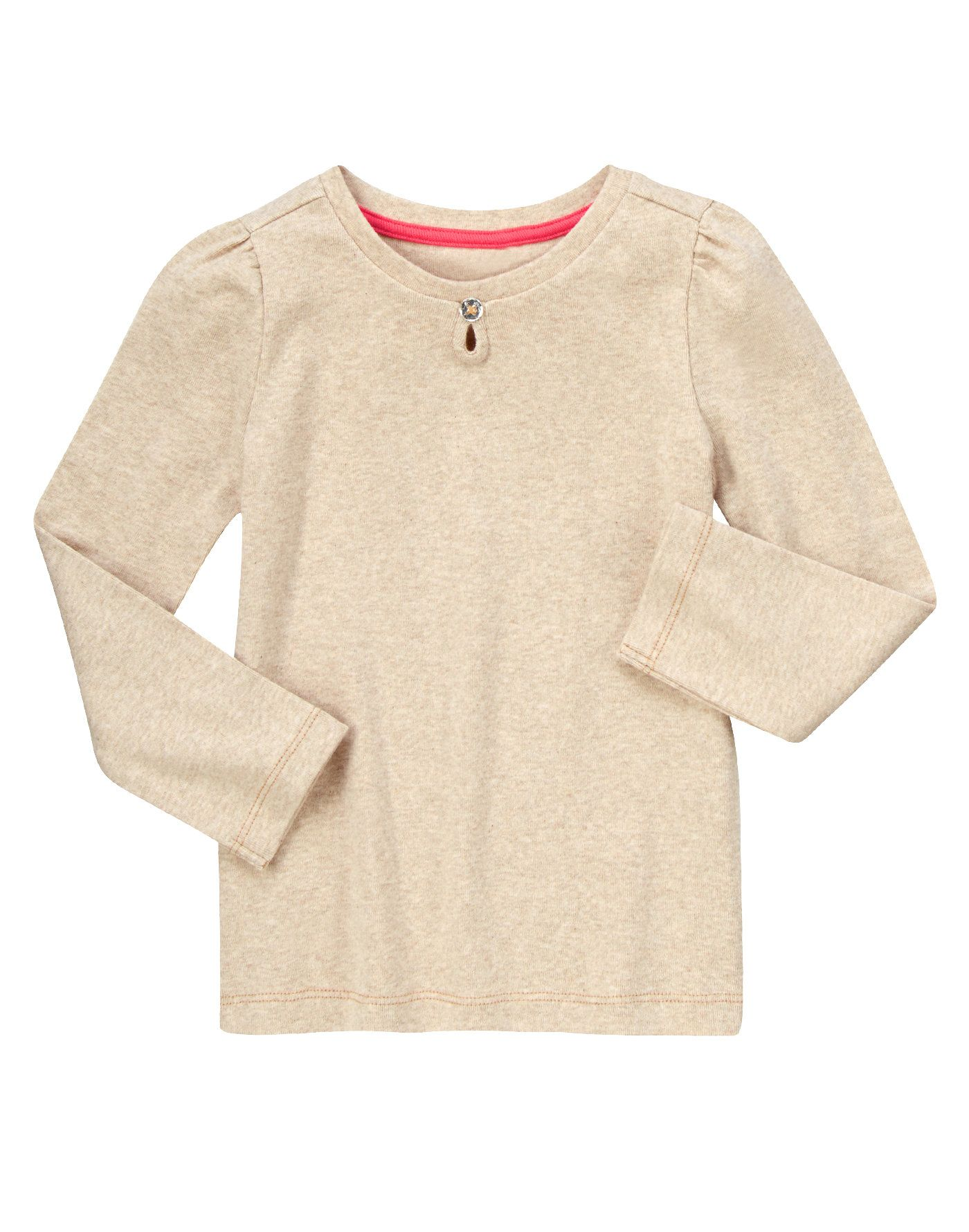 a8ec86fc3 Soft and comfy long sleeve tee is fancied up with a keyhole and ...