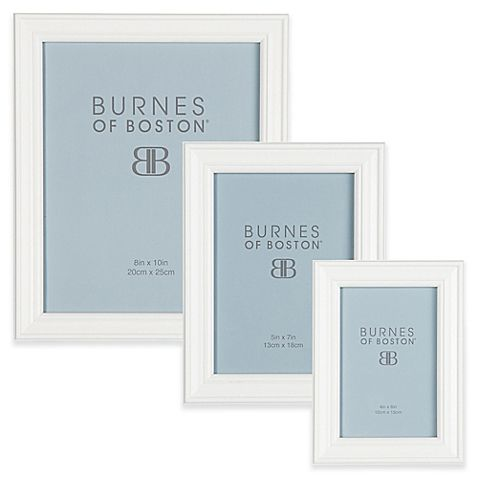 Burnes of Boston Basic Picture Frame in White | Tabletop and Walls
