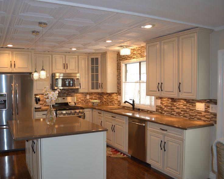 Image result for single wide trailer remodel   Farmhouse kitchen remodel, Simple kitchen remodel ...