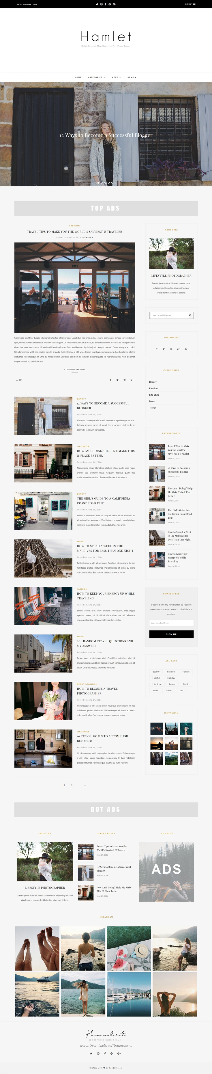 Hamlet is a clean and bold design 3 in 1 #WordPress #theme for multi-concept #Blogging, Magazine & newspaper website download now➯ https://themeforest.net/item/hamlet-multiconcept-blogmagazine-wordpress-theme/16704554?ref=Datasata