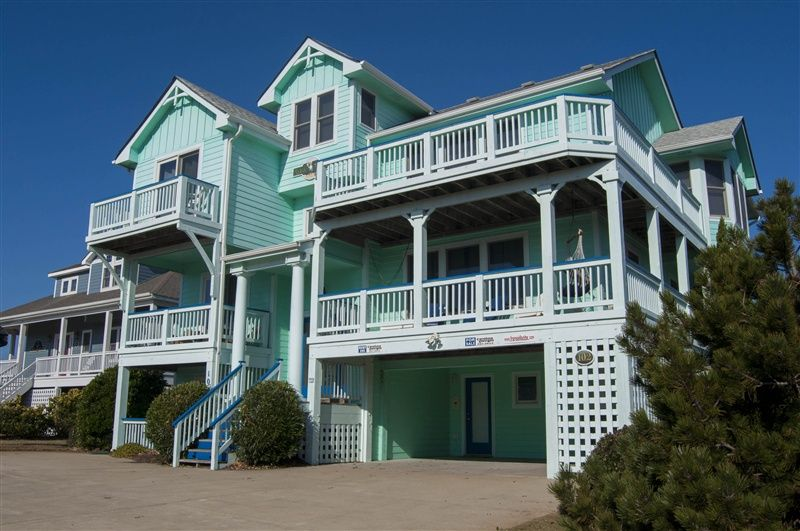 AQUA DUCK   295 located In DUCK LANDING  DUCK  NC Outer Banks Oceanside vacation  rental with 6 bedrooms  baths  Private Pool and Hottub. AQUA DUCK   295 l Duck  NC   Outer Banks Vacation Rental Home l