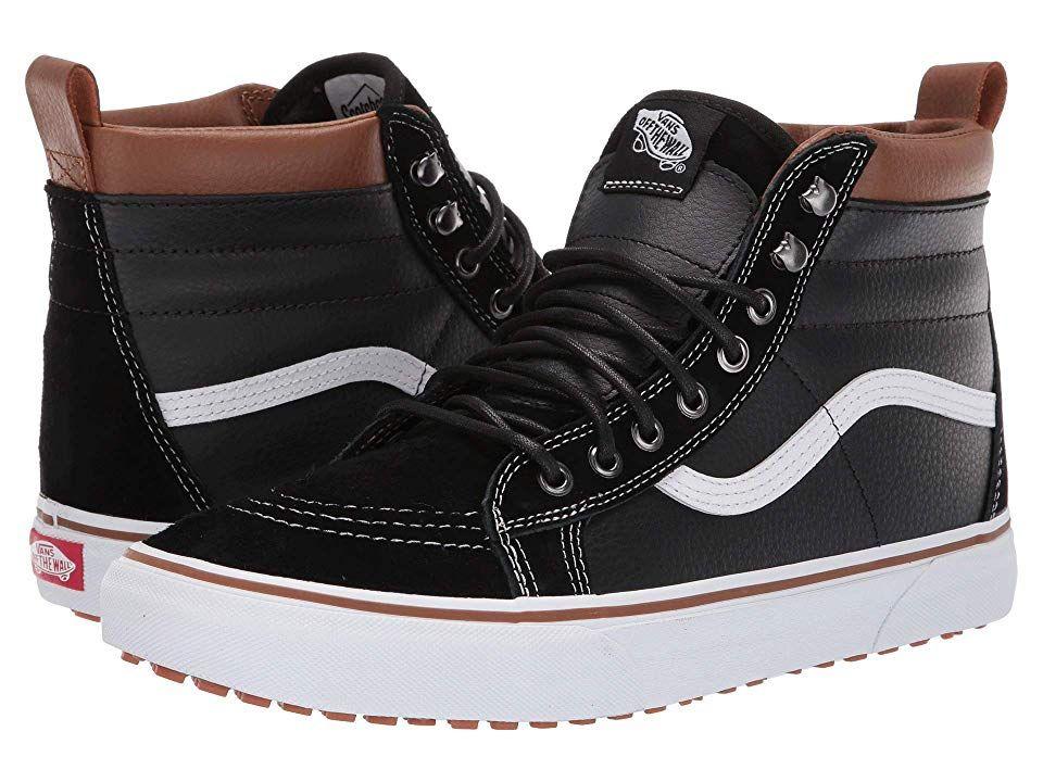 ba48ad3c3ec4c2 Vans SK8-Hi MTE ((MTE) Leather Black True White) Skate Shoes. Keep ...