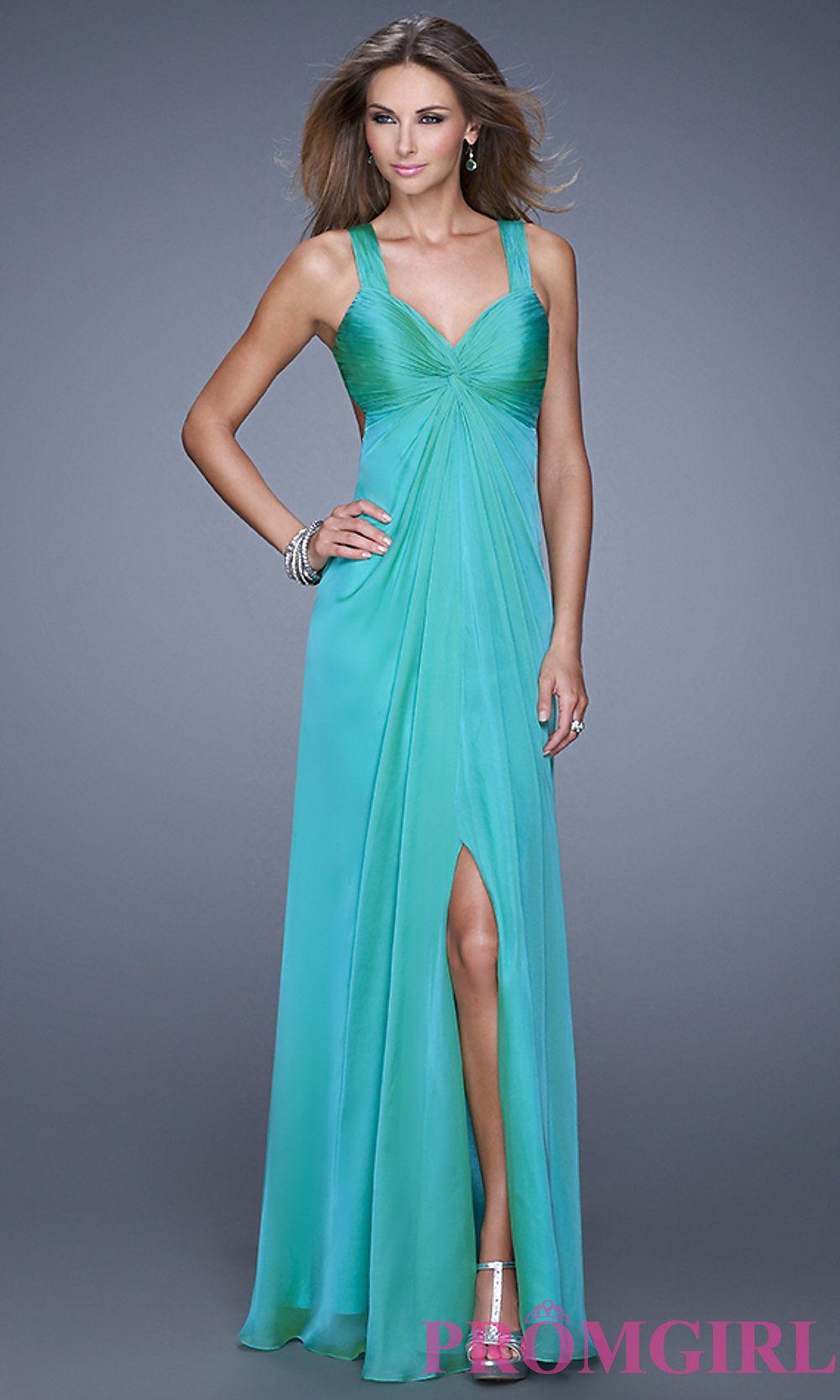 Sleeveless V-Neck Floor Length Dress- PromGirl