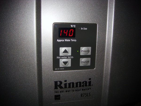 Changing The Temp On A Rinnai Water Heater Tankless Hot Water Heater Water Change