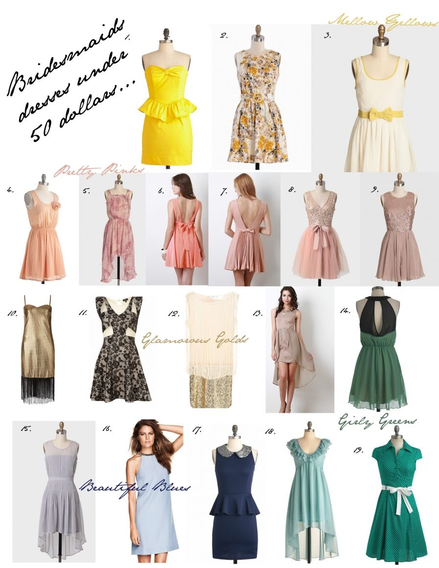 Tuesday tea time bridesmaid dresses under 50 dollars your tuesday tea time bridesmaid dresses under 50 dollars your bridesmaids will love you ombrellifo Image collections
