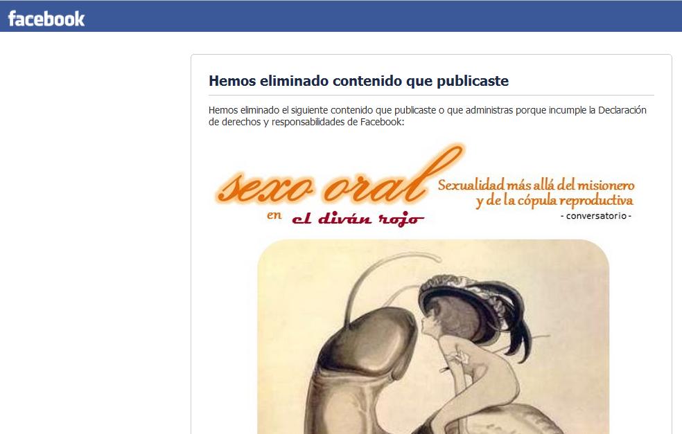 Ya estan que se censuran en Facebook. Recuerden seguirme en Twitter que es un poco más respetuoso con la libre expresión: @eldivanrojo