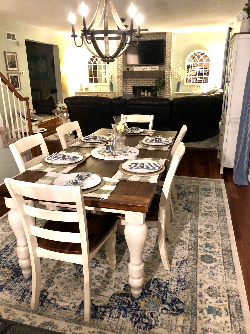 Rustic Dining Room Table, Marsilona Dining Room Table
