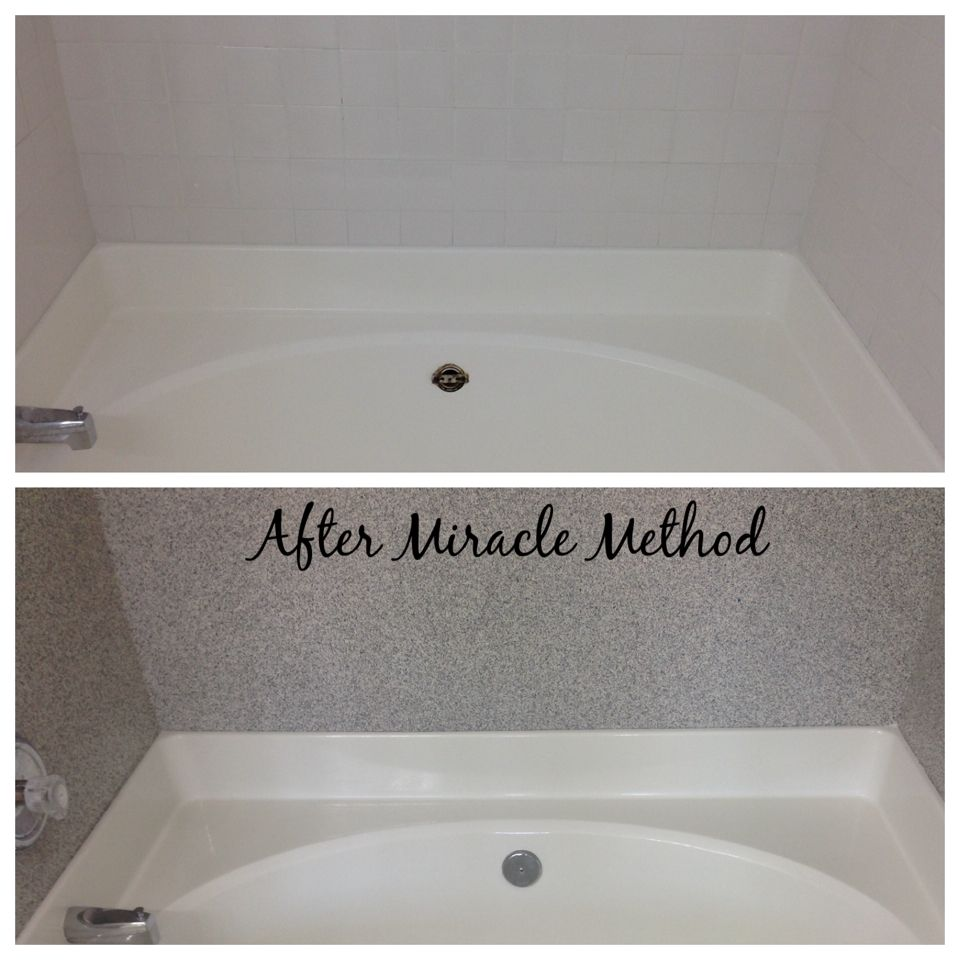 Miracle Method can refinish the tile back splash in one of the ...