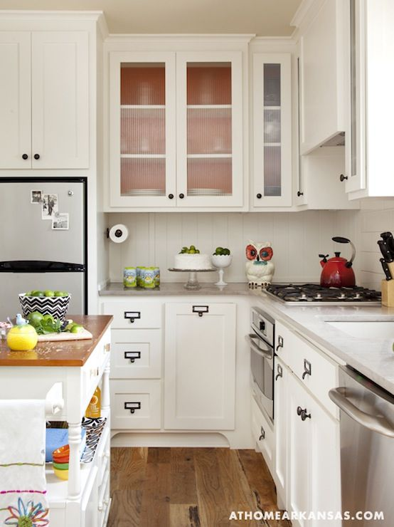 source: at home in arkansas vintage kitchen with creamy white