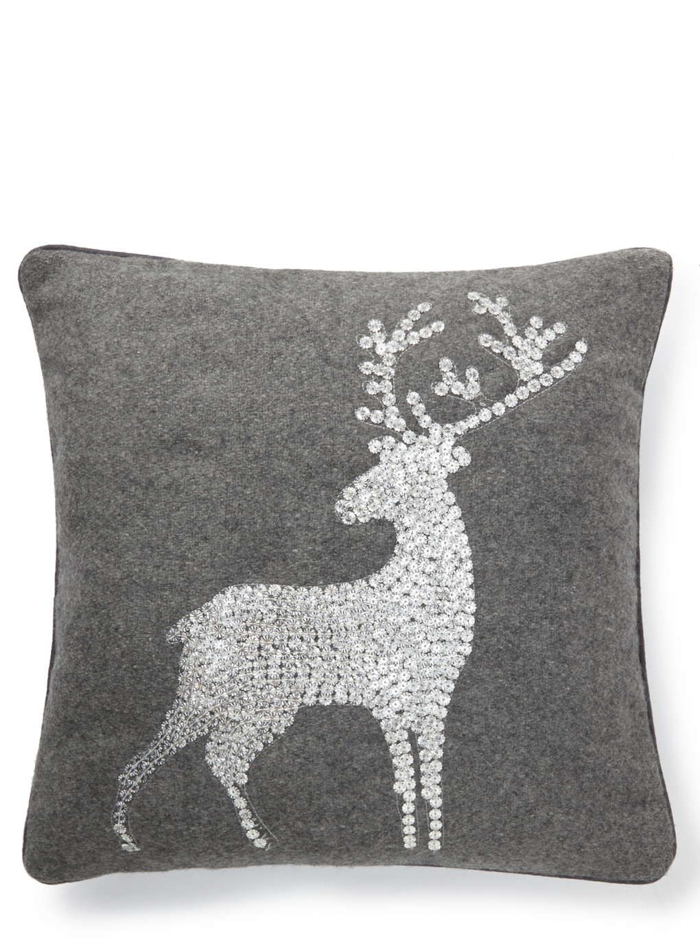 Grey Sequin Stag Cushion Bhs Christmas Pinterest