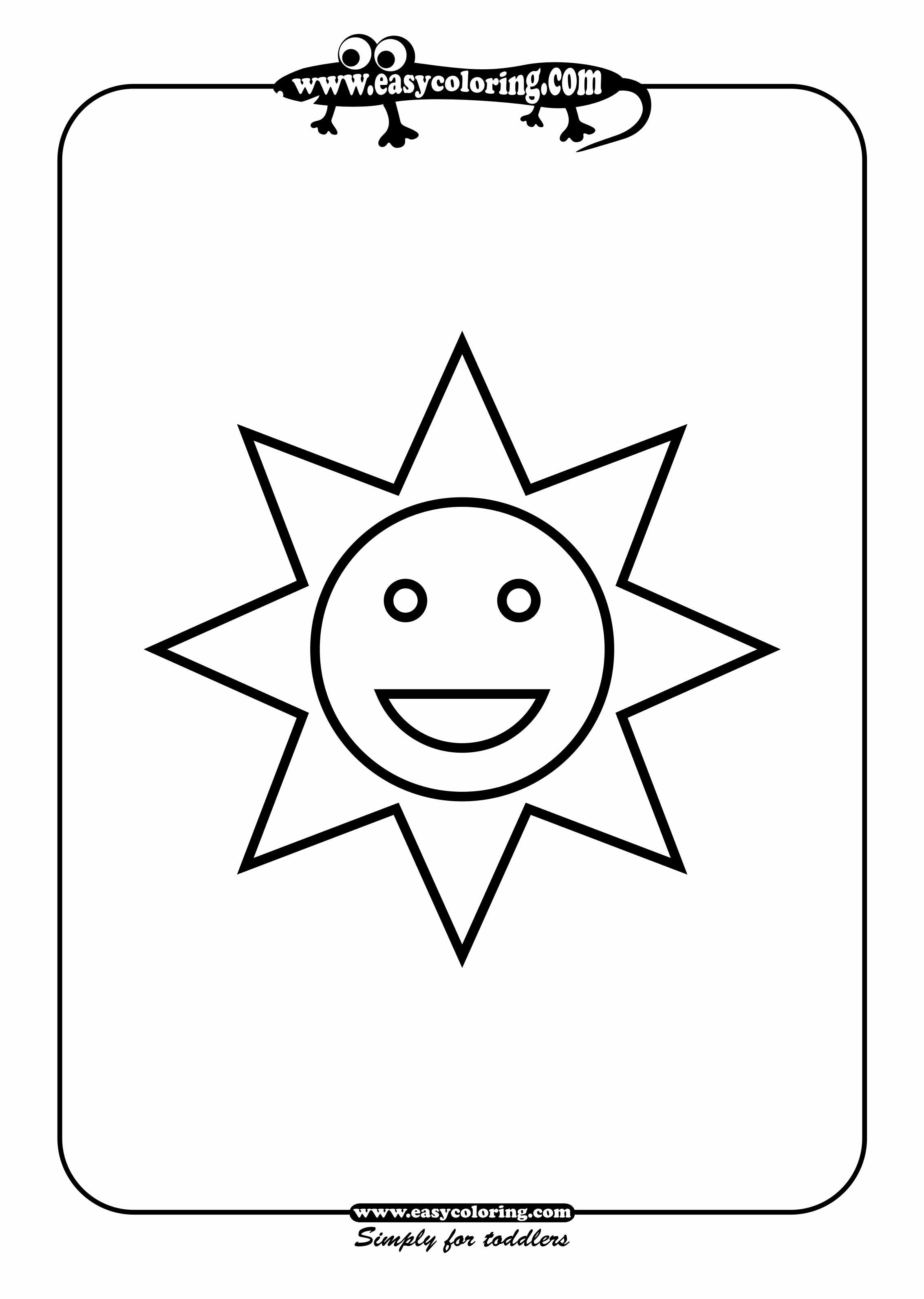 Sun Simple Shapes Easy Coloring Pages For Toddlers Sun Coloring Pages Easy Coloring Pages Coloring Pages