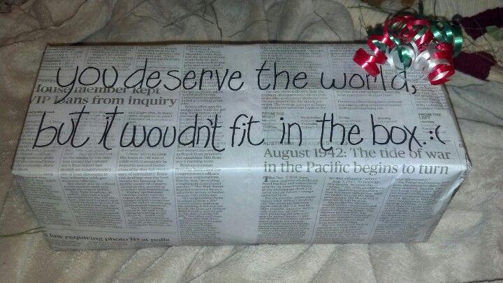 My Newspaper Wrap Job For My Very Best Friend's Christmas