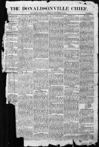 ASCENSION PARISH, Louisiana - Donaldsonville - 1871-1922
