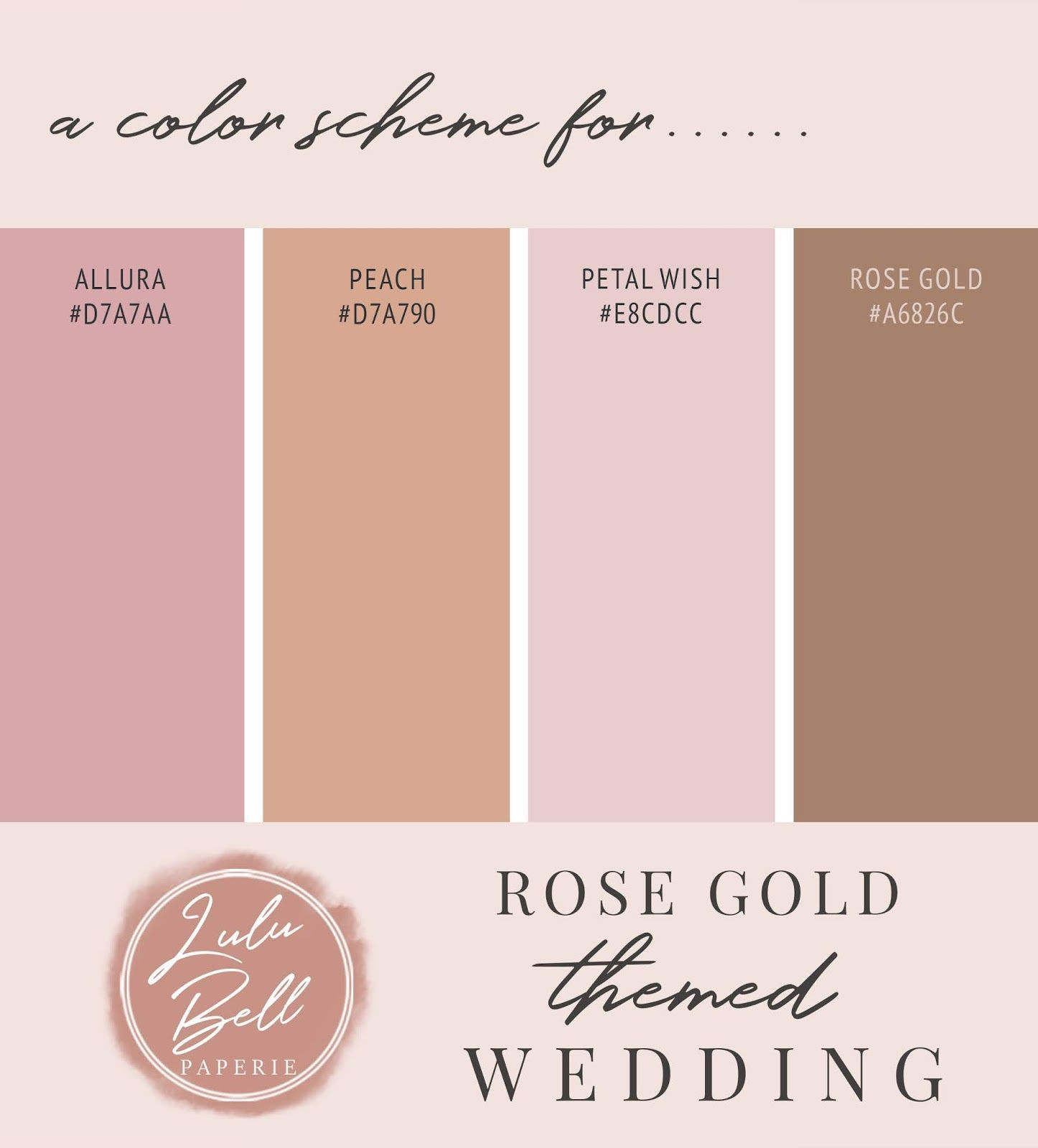 Allura Vintage Dusty Pink Floral And Rose Gold Wedding Invitation Suite With Coordinati In 2020 Rose Gold Wedding Invitations Gold Color Palettes Peach Color Schemes