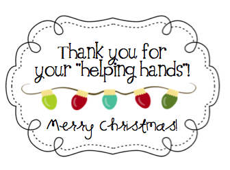 Parent Volunteer Christmas Gifts {attach a pair of winter gloves ...