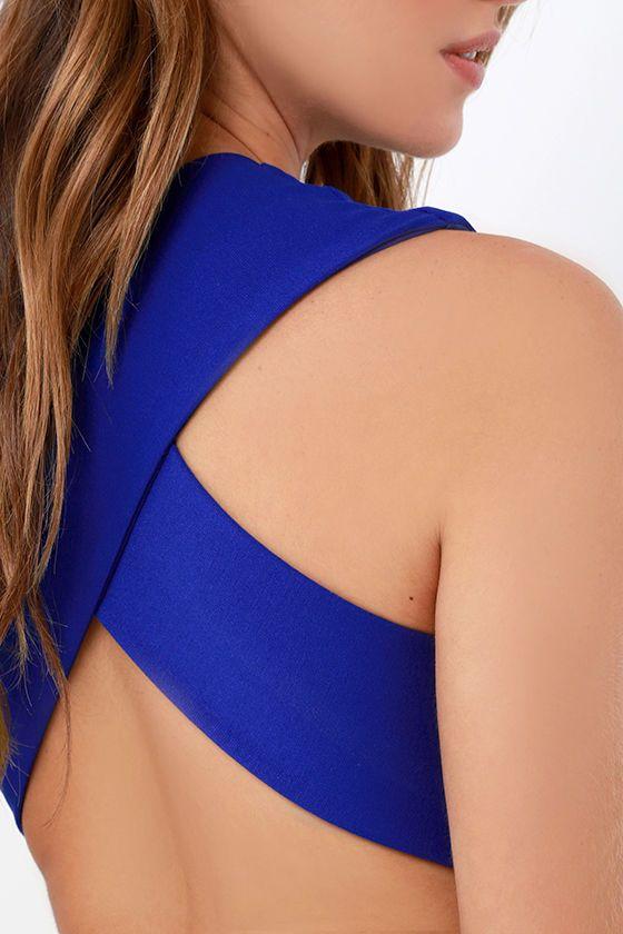 Betwixt and Between Royal Blue Backless Midi Dressat Lulus.com!