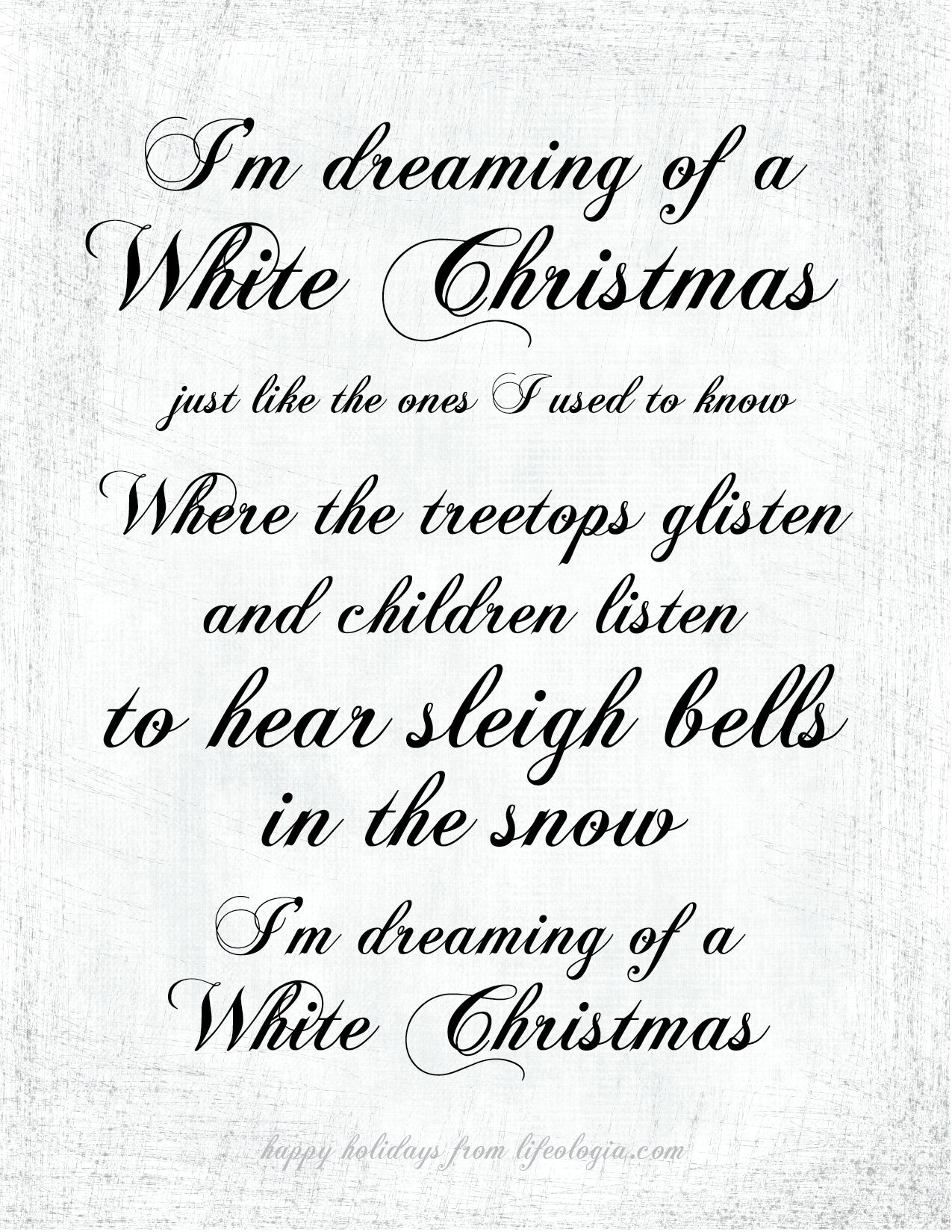 i\'m dreaming of a white christmas - Google Search | CHRISTMAS TIME ...