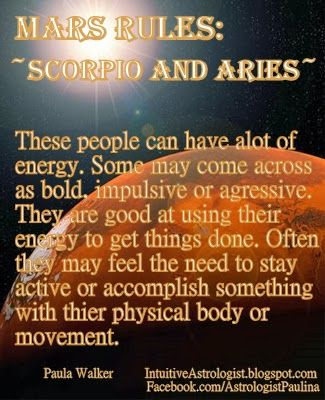 Astrology: Scorpio + Aries Zodiac Sign (Ruled by Mars) | #scorpio