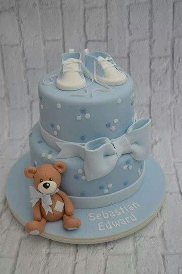 Tauftorte Bub Christening Cake Boy With Images Baby Shower