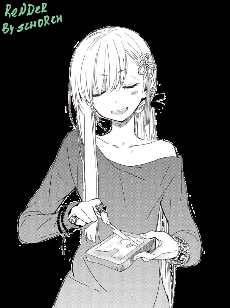Anime girl white hair render tìm với google