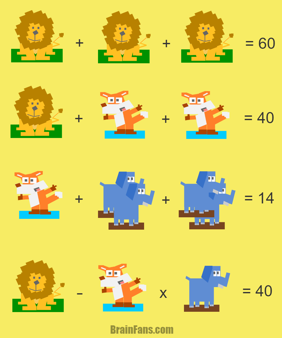 Solve this animal puzzle with three \