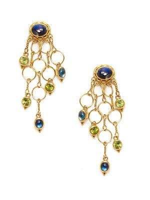 Luna felix moonstone peridot chandelier earrings treasure luna felix moonstone peridot chandelier earrings mozeypictures Choice Image