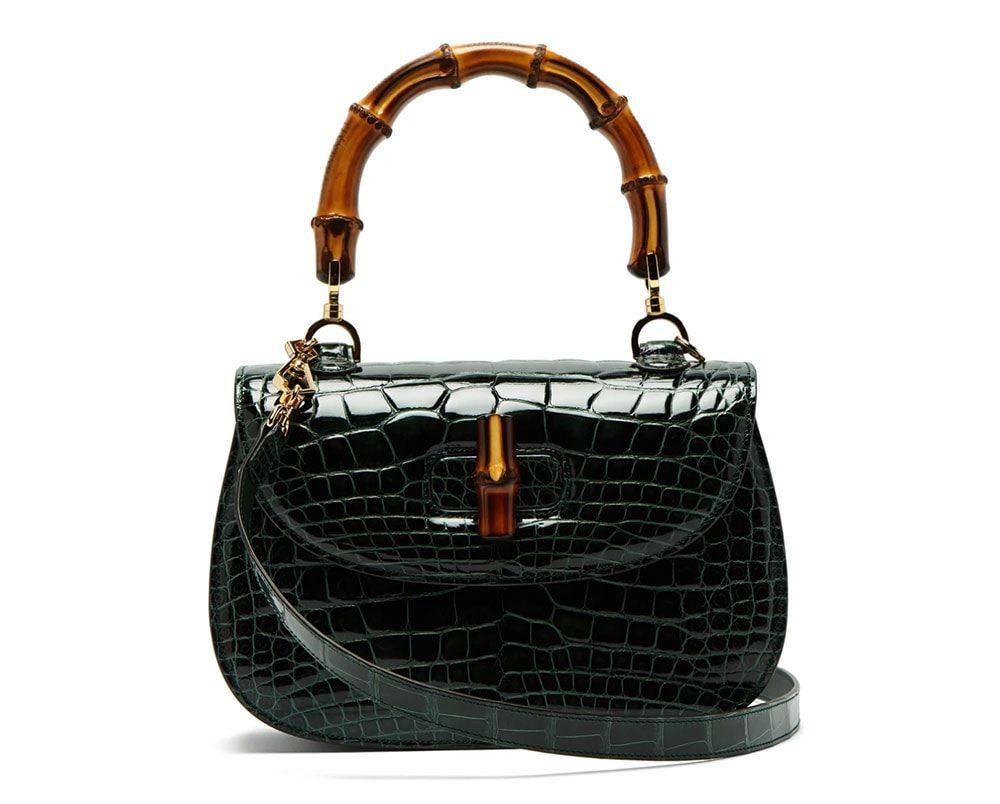 553a482e0f95 Gucci-Crocodile-Bamboo-Bag | Style me | Most expensive bag, Bags ...