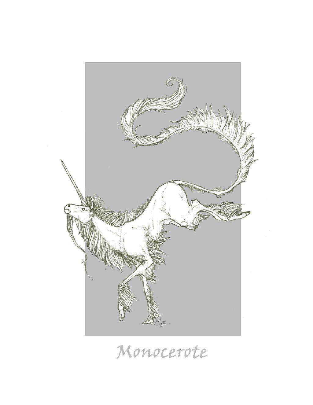 Monocerote Unicorn Unicorn Art Unicorn Mythical Creatures