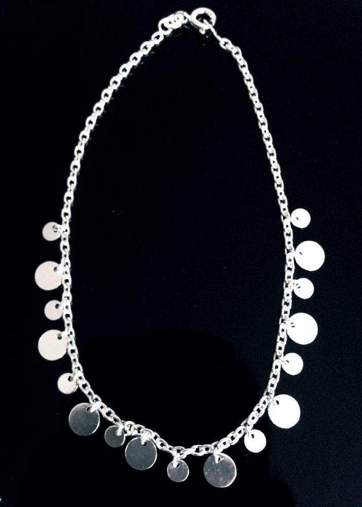 "New Sterling Silver 925 Dangle Ankle Bracelet 9"""