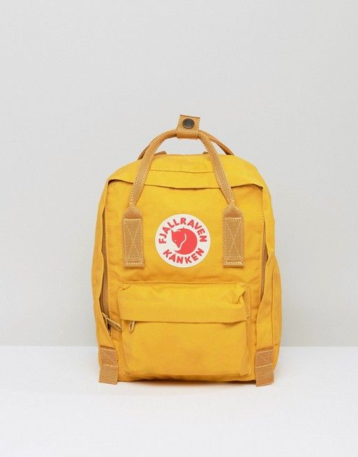 d3fc572b4a718 Fjallraven Mini Kanken in Mustard | Buy these for me thanks | Kanken ...