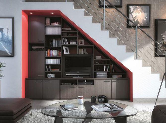 salon #bibliothèque #rangement #escalier | salon | Pinterest ...