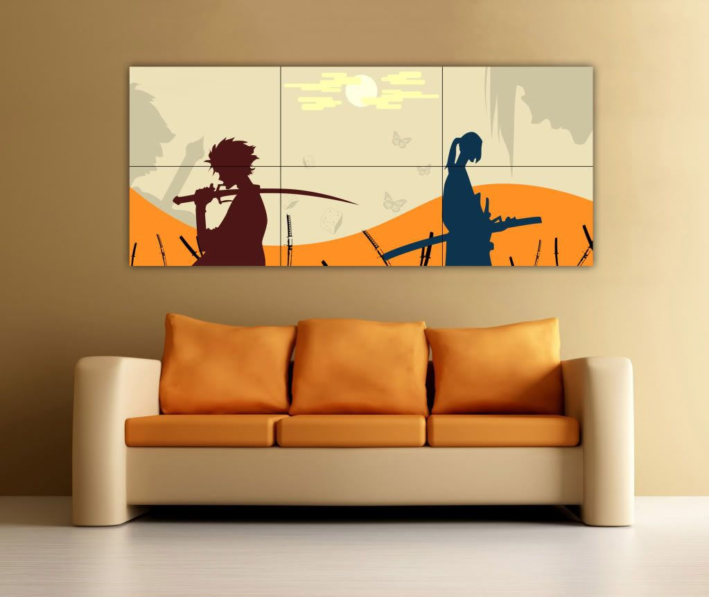 Samurai Champloo Manga Poster Large Anime Wall Art Picture Print Anime Wall Art Anime Crafts Wall Art Pictures