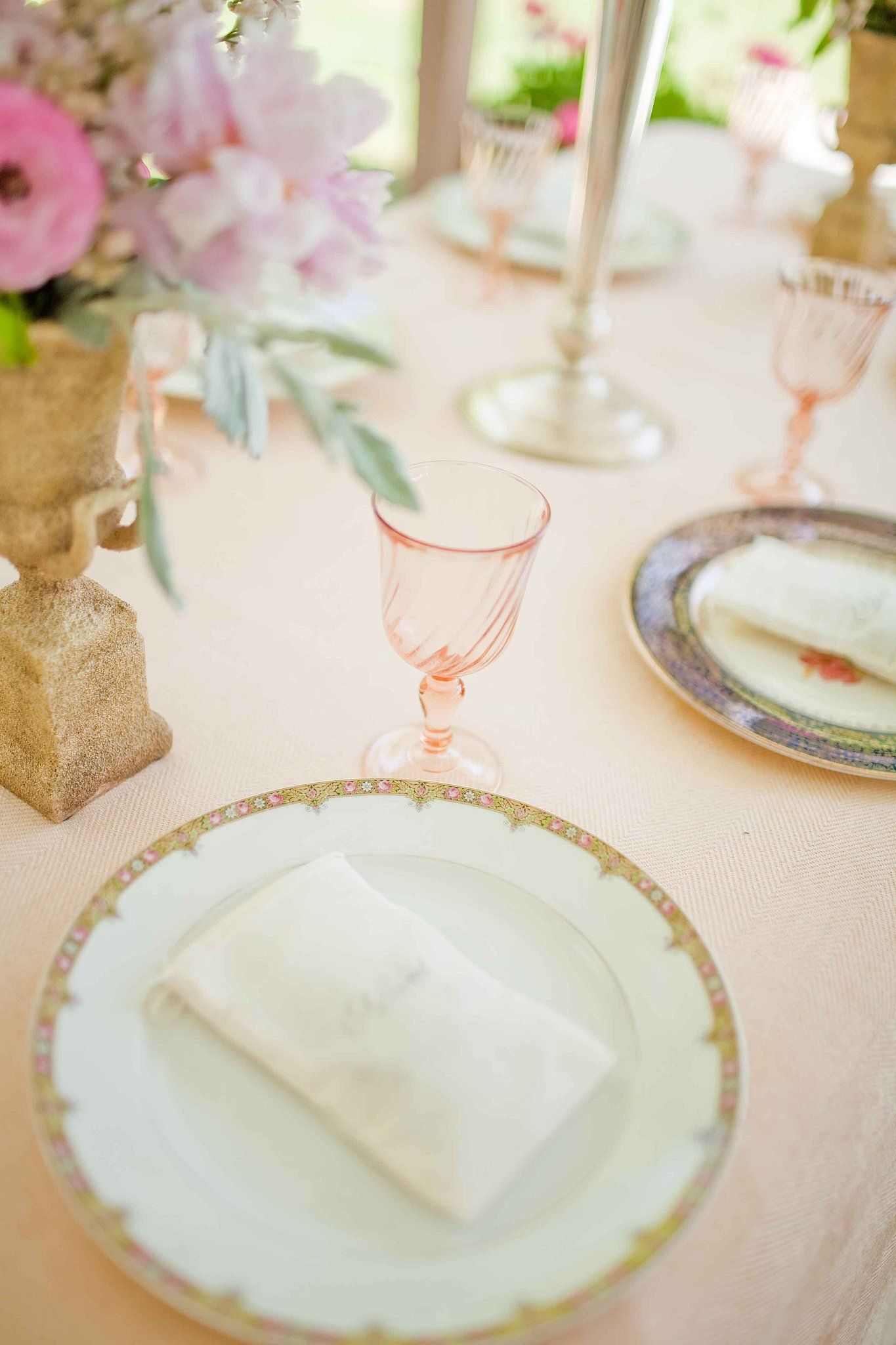 The gorgeous plates and glassware were by Casa de Perrin. Source ...