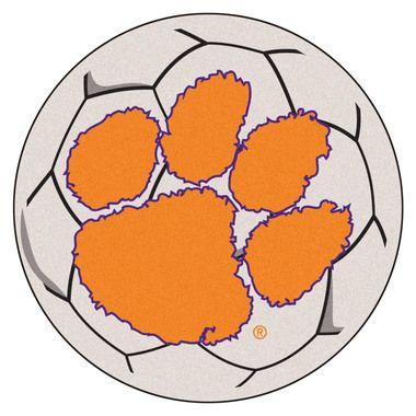 """Clemson Tigers 27"""""""" Soccer Ball Area Rug Floor Mat"""
