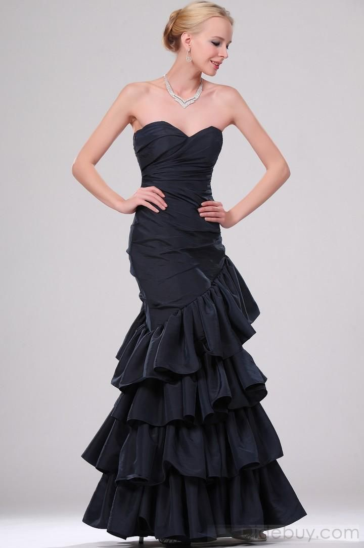 US$172.29 Pretty Mermaid Sweetheart Tiered Ankle Length EveningTieredParty Dresses. #Fall #Mermaid #Length #Pretty
