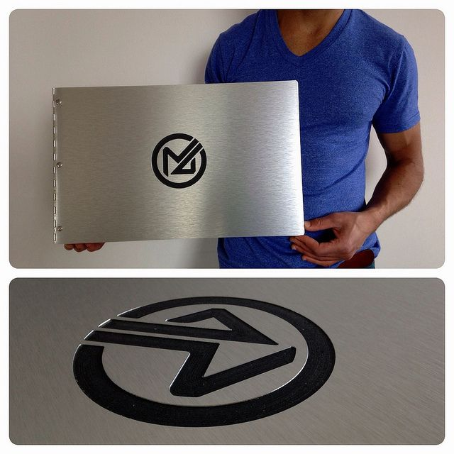 Custom Interior Design Portfolio Book In Brushed Silver Aluminum