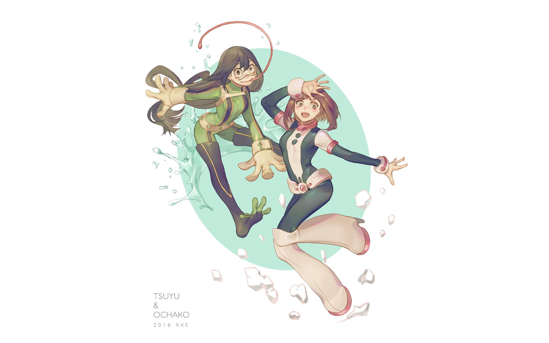 Anime My Hero Academia Ochako Uraraka Tsuyu Asui Wallpaper My