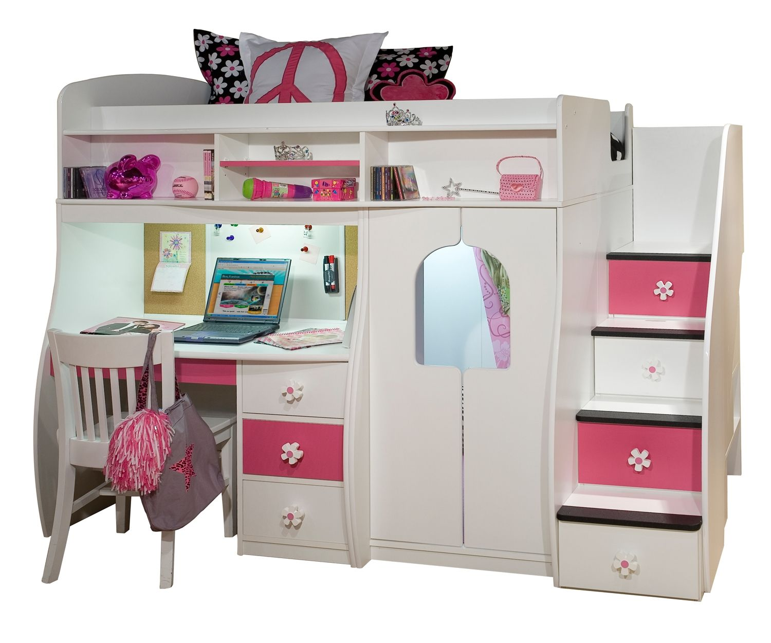 twin dressers desk junior maxtrix dhp bedroom loft cool girls shelves build scenic castle plans steps kids madison size bed corliving single pink princess and white tower amp low with two