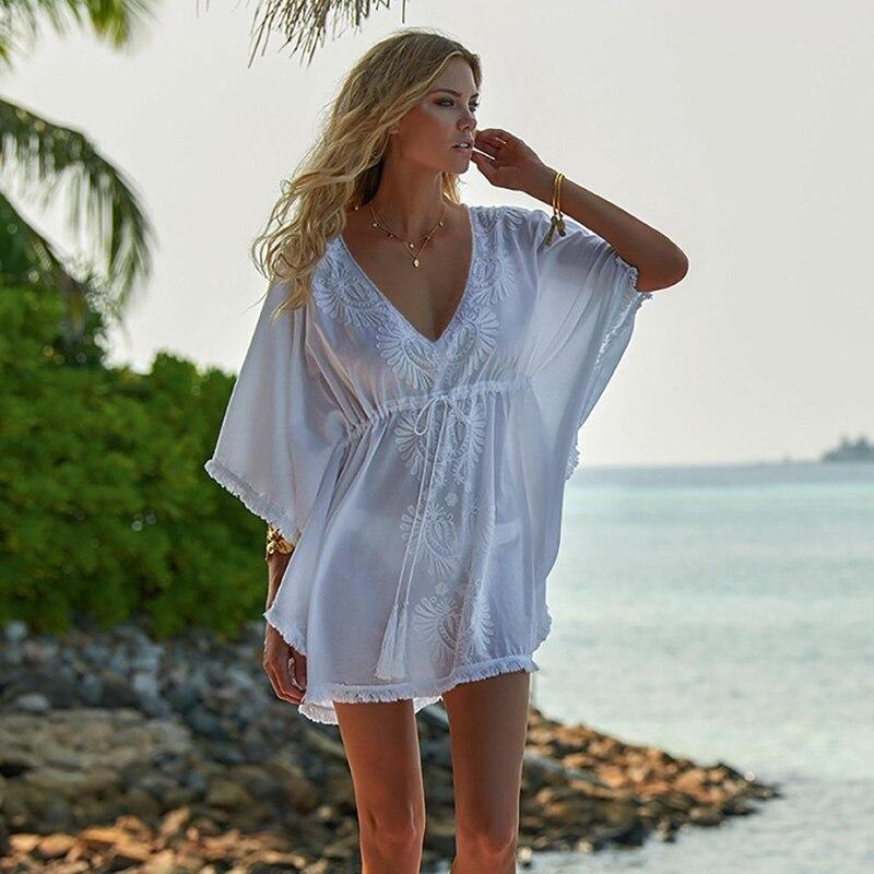 Unique Design Handmade Chiffon Tunic Swimwear Cover Blouse Beach  Pool Cruise Apparel for Ladies