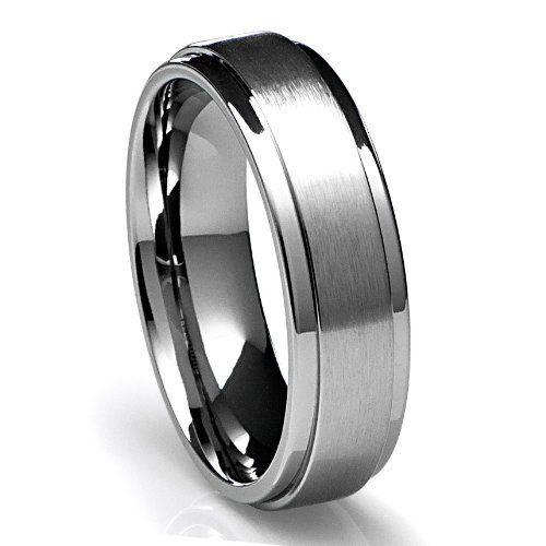 Titanium Grooved 9mm Mens Wedding Ring Band Sz 9.5