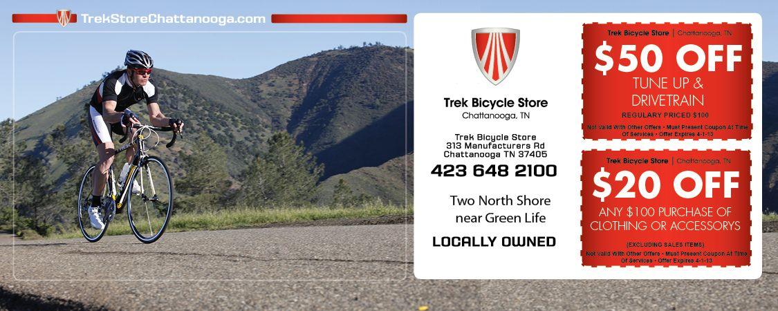 TREK Bicycle Store Coupon located inChattanoogaTN