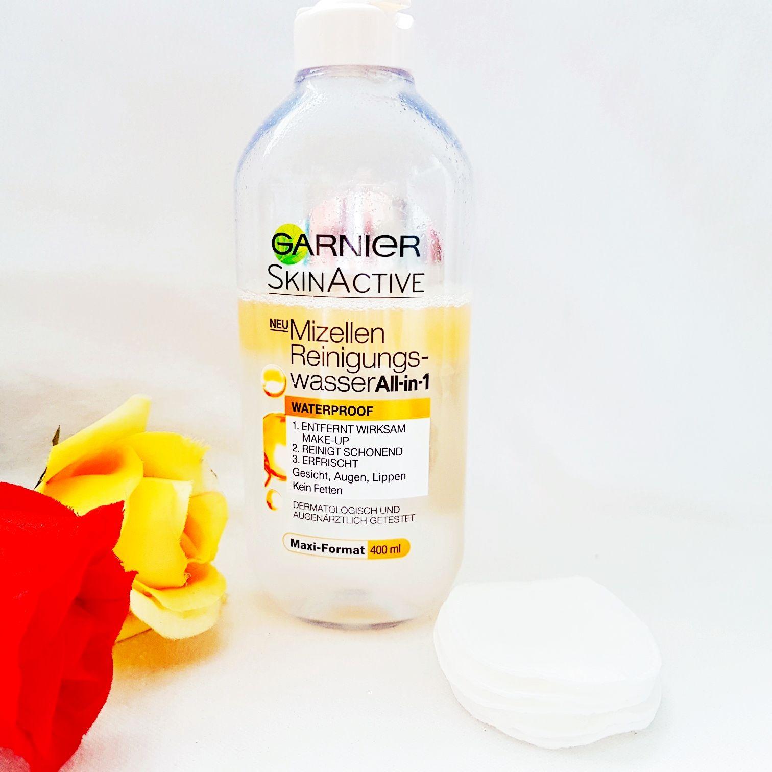 Testbericht Garnier SkinActive Mizellen Reinigungswasser All-in-1 Waterproof