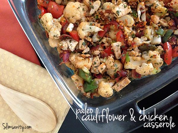 Paleo Cauliflower Chicken Casserole - Slim Sanity