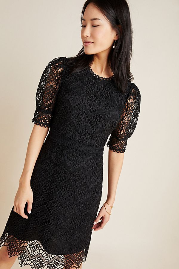 Shoshanna Lucy Lace Mini Dress By In Black Size 6 Womens