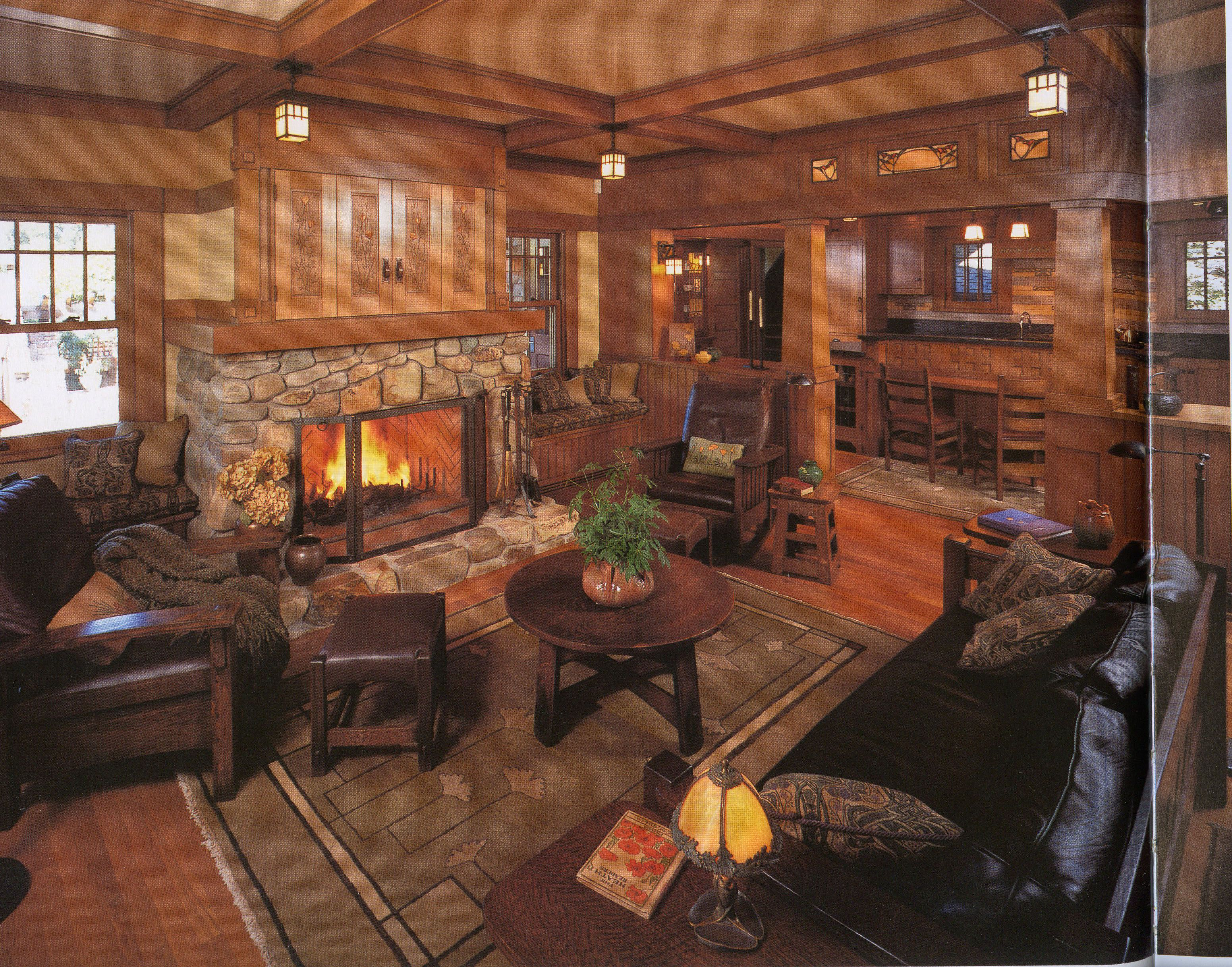 Pin By Janet Johnson On For The Home Craftsman Style Interiors Craftsman House Craftsman Living Rooms