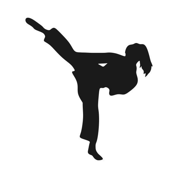 karate2.jpg (600×600) | Karate girl, Silhouette clip art, Taekwondo girl
